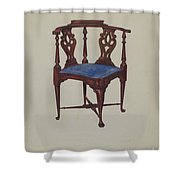 Roundabout Chair Shower Curtain