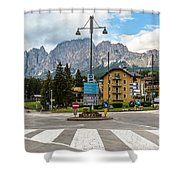 Roundabout Cortina D'ampezzo  Shower Curtain