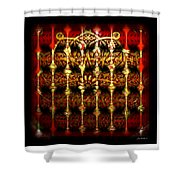 Rounded Abstract Shower Curtain