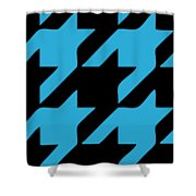 Rounded Houndstooth Black Background 02-p0123 Shower Curtain
