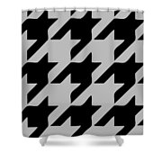 Rounded Houndstooth Black Pattern 03-p0123 Shower Curtain