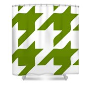 Rounded Houndstooth White Background 02-p0123 Shower Curtain