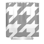 Rounded Houndstooth White Pattern 02-p0123 Shower Curtain