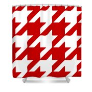 Rounded Houndstooth White Pattern 03-p0123 Shower Curtain