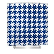 Rounded Houndstooth White Pattern 09-p0123 Shower Curtain