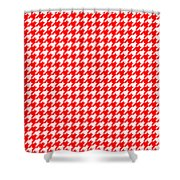 Rounded Houndstooth White Pattern 18-p0123 Shower Curtain