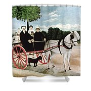 Rousseau: Cart, 1908 Shower Curtain