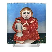 Rousseau: Child/doll, C1906 Shower Curtain