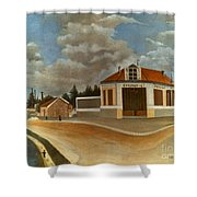Rousseau: Factory, C1897 Shower Curtain