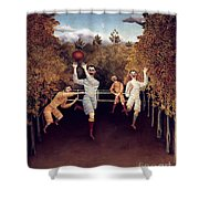 Rousseau: Football, 1908 Shower Curtain
