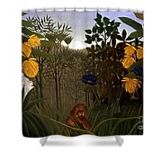 Rousseau: Lion Shower Curtain