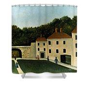 Rousseau:promenaders,c1907 Shower Curtain