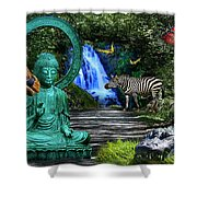 Rousseau's Garden Shower Curtain