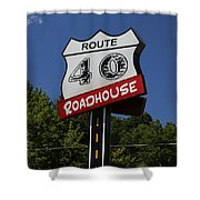 Route 40 Roadhouse Shower Curtain