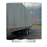 Route 66 - Dixie Truck Stop Shower Curtain