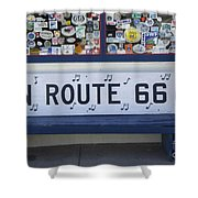 Route 66 Bench Shower Curtain