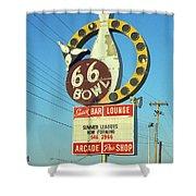 Route 66 Bowl Shower Curtain