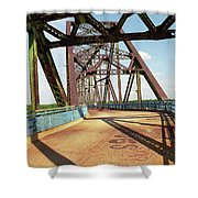 Route 66 - Chain Of Rocks Bridge Shower Curtain