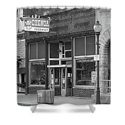 Route 66 - Chenoa Pharmacy Shower Curtain