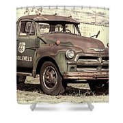 Route 66 Chevy Tumbleweed - #3 Shower Curtain