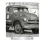 Route 66 Chevy Tumbleweed - #5 Shower Curtain