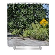 Route 66  End Of The Road Shower Curtain