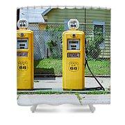 Route 66 - Illinois Gas Pumps Shower Curtain