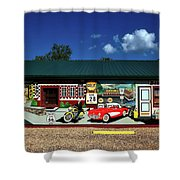 Route 66 Mural Shower Curtain