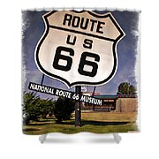 Route 66 Museum - Impressions Shower Curtain
