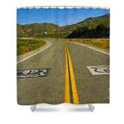 Route 66 National Historic Road Shower Curtain