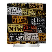 Route 66 Oklahoma Car Tags Shower Curtain