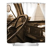 Route 66 - Parking At The Wigwam Shower Curtain