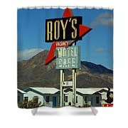 Route 66 - Roy's Of Amboy California 2 Shower Curtain