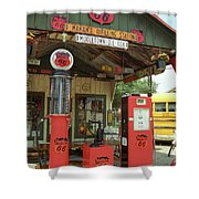 Route 66 - Shea's Gas Station Shower Curtain