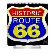 Route 66 Vintage Sign Shower Curtain