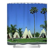 Route 66 - Wigwam Motel 4 Shower Curtain