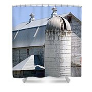 Route 81 Barn Shower Curtain