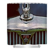 Rover Radiator And Hood Ornament Shower Curtain