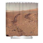 Roving Across Mars 1 - Earth Light Shower Curtain