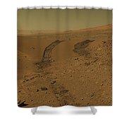 Roving Across Mars 2 - Mars Light Shower Curtain