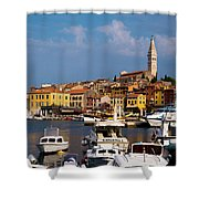 Rovinj Harbour Shower Curtain