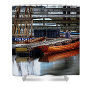 Row Boat Rental Shower Curtain