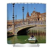 Row Boating In Seville Shower Curtain