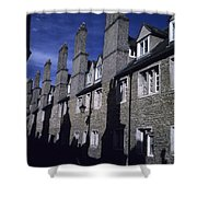Row Houses Stand Huddled Together Shower Curtain