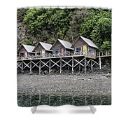 Row Of Camps Shower Curtain