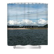 Row Of Clouds Shower Curtain