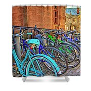 Row Of Student Bikes At Princeton University Nj Shower Curtain