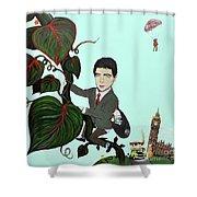 Rowan Atkinson Mr Beanstalk Shower Curtain