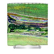 Rowboat Fluorescence 2 Shower Curtain