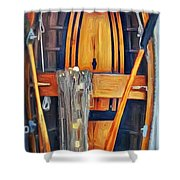 Rowboat Standing Time Shower Curtain